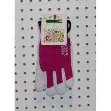 Garden Short Glove - Fuschia/Grey