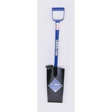 Wolverine 26in D-Handle Spade, 12in straight blade