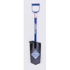 Wolverine 26in D-Handle Spade, 15in Diamond Point Steel Blade